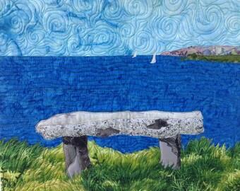 art quilt pattern download: overlook bench