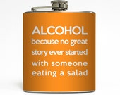 Funny Alcohol Definition Flask Liquid Courage Groomsmen College Drinking Guys 21 Birthday Gift Stainless Steel 6 oz Liquor Hip Flask LC-1119