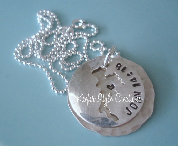 Thailand Hand Stamped adoption necklace