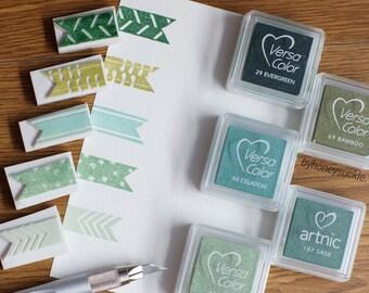 ribbon stamp, washi tape rubber stamp, washi tape stamp, masking tape stamp, ribbon label stamp, label stickers rubber stamp, pattern stamp