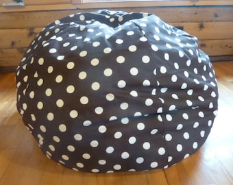 Chocolate Brown With White Polka Dot Bean Bag Chair Cover Etsy Kids Gifts Under