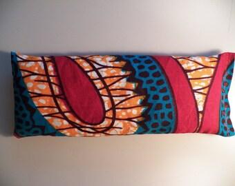 Eye Pillow - Orange Blue African Batik
