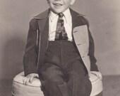 Smiling Little Boy - Vintage Photograph (FFF)