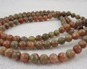 Autumn Jasper 8mm Round Beads - RESERVED
