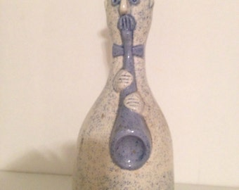 Pottery Musician, Vintage, Horn