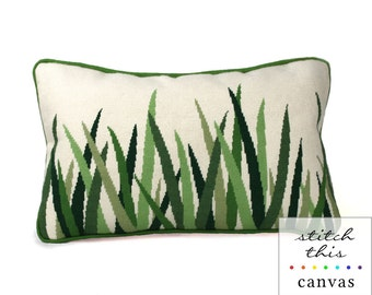 green grasses needlepoint canvas - diy - modern - contemporary