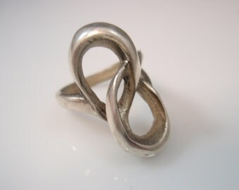 Infinity Symbol Infinite Power Endless Love Ring Solid Sterling Silver 925 Ring