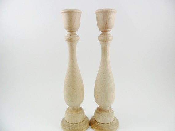 Candlesticks 9 wood candle holders unfinished set by craftingdaily - Unfinished wood candlestick holders ...