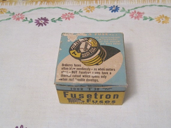 Vintage box of unused fuestron fuses
