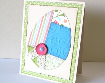 Patchwork Easter Egg Handmade Card