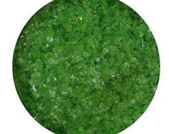 8.5 Oz Fern Green Opal Medium Glass Frit - 96 COE