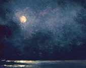 Original Handpainted ACEO Impressionistic Seascape Nocturne Art by Ed McCarthy
