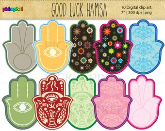 50% off SALE - Hamsa - digital clip art - Personal and Commercial Use