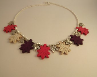 Leaves with Silver Necklace