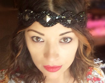 Starry Night Headband w/ studs