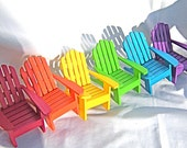 Set of Miniature Rainbow Painted Chairs