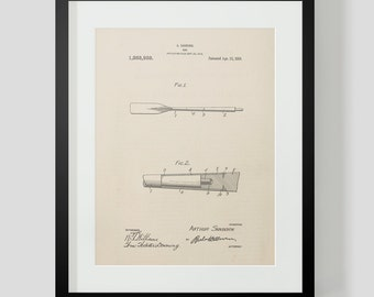Boat Oars Sanorn Sailboat Boat Sailing Ship Patent Print