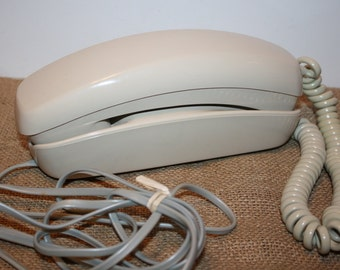 ITT Push Button Desk Phone - off white
