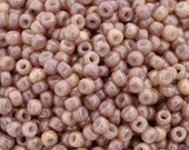 Seed Beads-8/0 Round-1203 Marbled Opaque Pink Amethyst-Toho-16 Grams