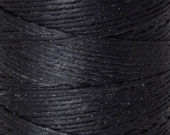 Tools & Supplies-7-Ply Waxed Irish Linen-Black-10 Yards