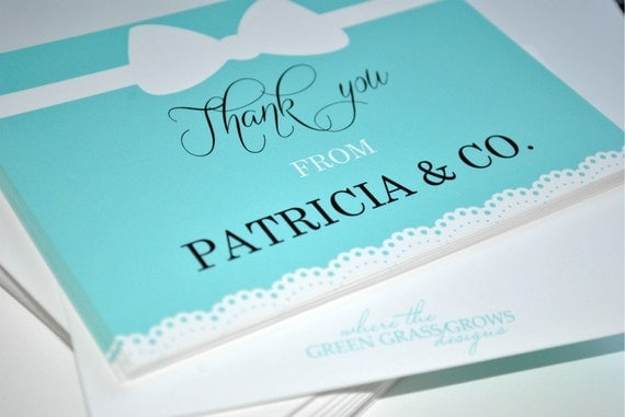 Name and Co. Thank you Note Cards