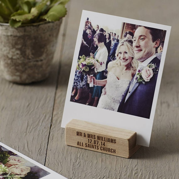 Personalised Wedding Gift Portrait : Personalised Wedding Gift Wooden Photo Block