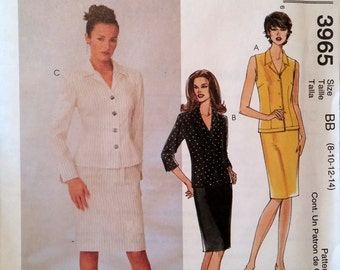 McCalls Sewing Pattern 3965 Petite Tops and Skirt size BB (8-10-12-14) (P171)