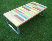 Painted Table Coffee Table Reclaimed Wood Table
