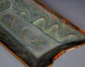 Pottery Serving Platter Ceramic Stoneware Handmade Dish A