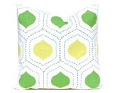 Green Euro Sham, Lime Green Ogee Pillow Cover, Decorative Throw Pillow Covers, Lime Green Pillow, Lime Green Cushion Covers, Accent Pillow,