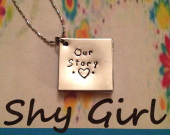 Handstamp Our Story Necklace