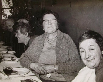 Vintage French Photograph - Old Peoples Christmas Meal