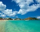 St. Martin Beach- Caribbean photography 11 X 14 print