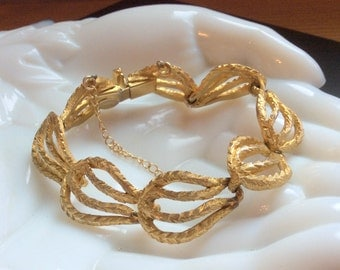 Hattie Carnegie Gold Link Bracelet