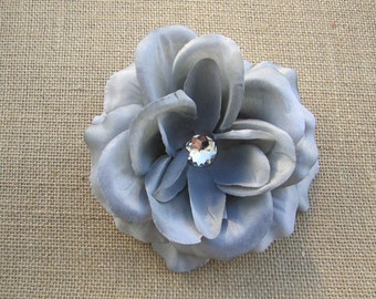 Grey rose flower hair clip PERFECT FOR HEADBAND
