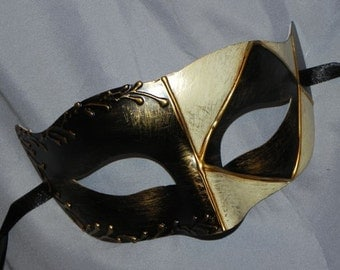 Black, Gold and Ivory Diamond Mask