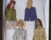 Size  14 16 18 20 Butterick B5617 Jacket Hip Length Short, 3/4, & Long Sleeves Bolero MIsses Women Uncut Sew Sewing Pattern
