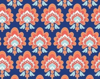 Riley Blake Fabric - 1 Yard of Lula Magnolia Floral in Blue