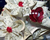 Origami Wedding Bouquet 8 Flowers and Many Choices