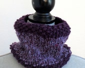 Purple and Lavender Cowl Neck Warmer