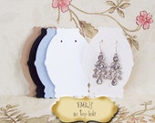 40 EMILY 3 x 2.25 inch EARRING CARDS, Jewelry cards, Earring Display, Earring Holder, stud card, bulk