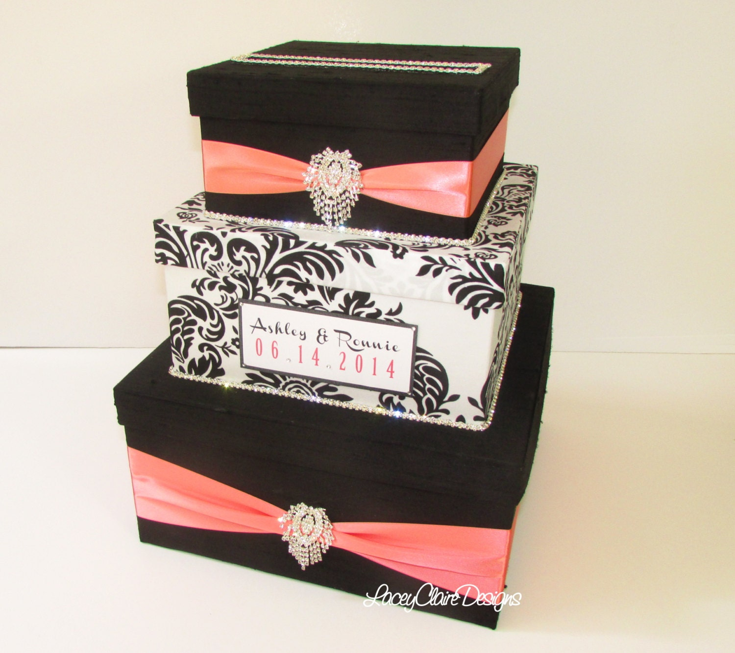Wedding Reception Gift Card Holder : Wedding Gift Box Card Box Money Holder Envelope Reception