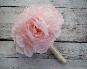 Blush Pink Peony Wedding Bouquet - Peony Bridal Bouquet