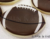 Football Cookies, Football Cookie Favors, Footballs