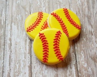 Softball or Baseball Sugar Cookies
