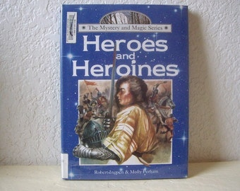Book:  Heroes and Heroines, Hardcover with dust jacket and mylar cover, ex-library