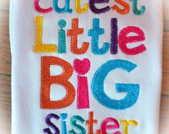 Cutest Little Big Sister Boutique Shirt