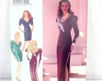 COUPON SALE: Vtg 1991 Style 2193 Sewing Pattern/Glamour 90s Dynasty Era Evening Dress/Floor or Cocktail Length (Misses 8-18), Unused, NOS