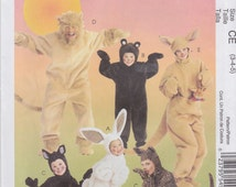 McCall's Sewing Pattern M6106 Adults' and Kids' Animal Costumes New UNCUT