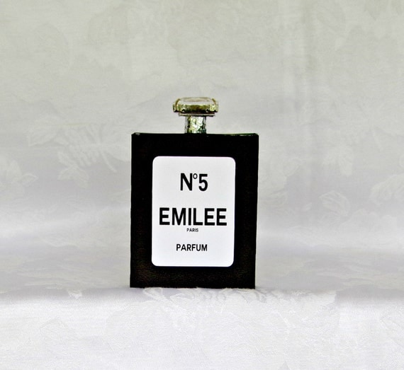 Personalized Perfume Bottle Gift Box Favor Box